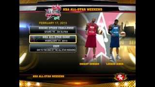 NBA2K13 PC ON DUAL CORE PC ALL HIGH SETTINGS(ALL STAR GAME EAST VS WEST)