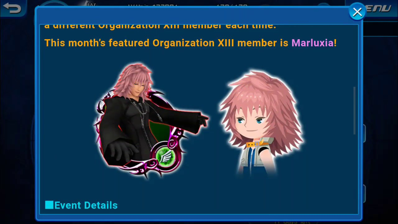 Flower Maiden Of Pure Heart Marluxia Event Kingdom Hearts Unchained X Event And Guilt Runthrough