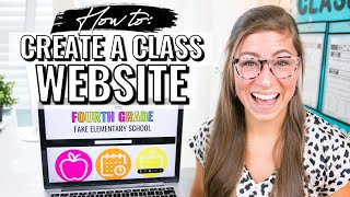 How to Create a Class Website for Teachers | Google Sites Tutorial