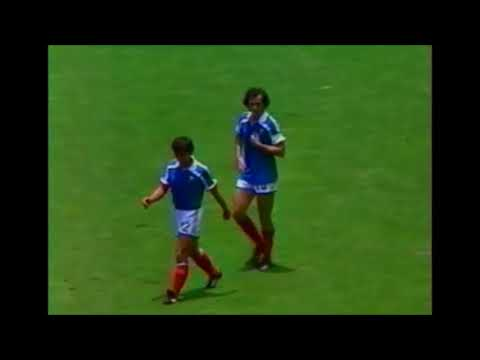 Michel Platini vs Brazil world cup 1986