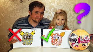 3 MARKER CHALLENGE with Alinka and Dad! Part 2. LOL Pets for the winner!!