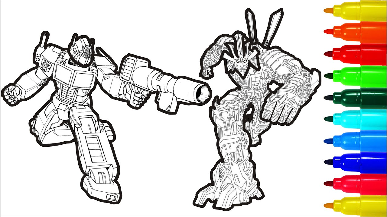 Dinobots Optimus Prime Coloring book Colouring Pages Transformers ... | 720x1280