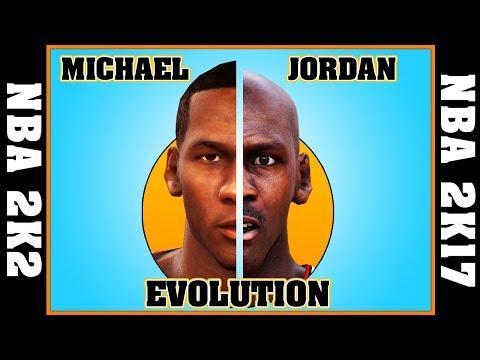 MICHAEL JORDAN evolution [NBA 2K2 - NBA 2K17] 🏀