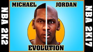 MICHAEL JORDAN evolution [NBA 2K2 - NBA 2K17] 🏀