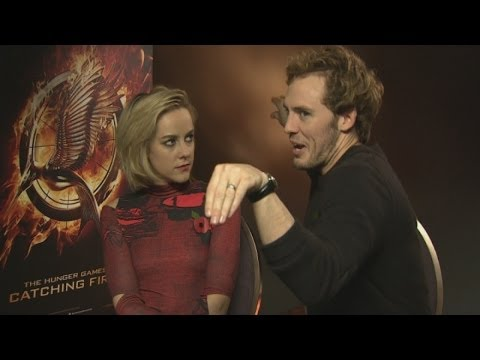 Hunger Games' Sam Claflin and Jena Malone on crabs and the Catching Fire crew