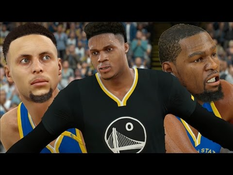 What If Russell Westbrook And Kevin Durant Went To The Warriors? NBA 2K17 Challenge