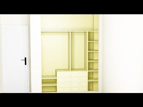 Como forrar y vestir un armario empotrado resumen youtube for Papel para forrar armarios empotrados