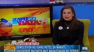 Mga pananagutan ng contractor ng gumuhong gusali sa Makati | Unang Hirit