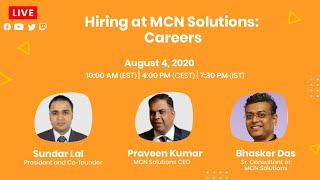 Hiring at MCN Solutions - Careers