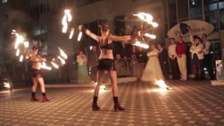 ОГНЕННОЕ ШОУ   свадебное шоу 2016   Арт-студия AERIAL, фаер шоу Одесса