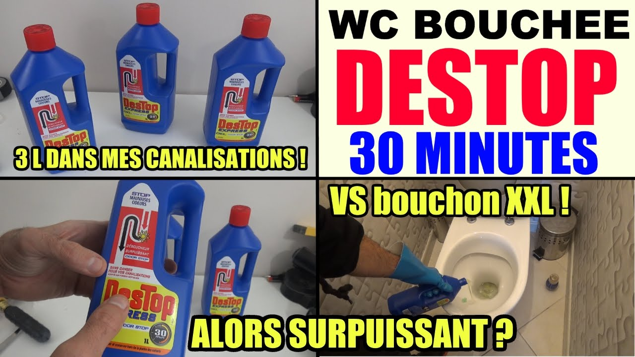 Wc Bouche Destop Express Test Toilette Deboucher Canalisation Wc