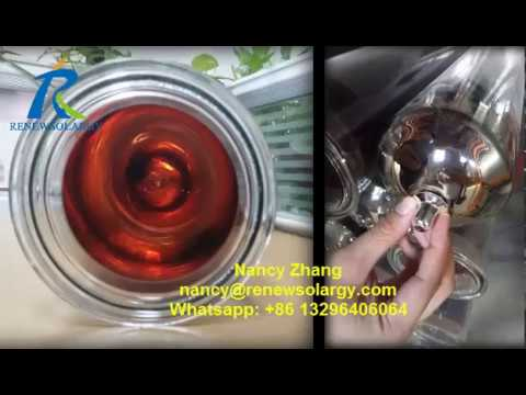 Large Diameter Solar Vacuum Tube for Solar Cooker or Tankless Water Heating Project