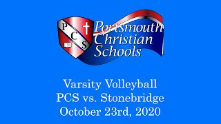 PCS vs Stonebridge - Varsity Volleyball 10/23/20 - HD Replay