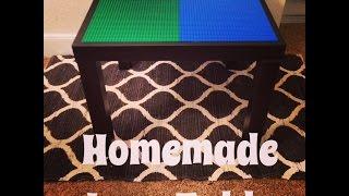 Homemade Lego Table