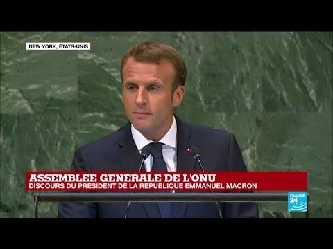 REPLAY - Discours d'Emmanuel Macron à l'Assemblée générale de l''ONU