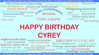 Cyrey   Languages Idiomas - Happy Birthday
