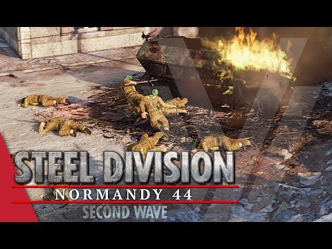 Special Forces Sacrifice! Steel Division: Normandy 44 Gameplay (Omaha, 4v4)