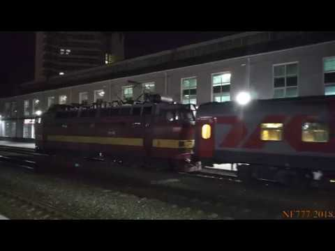 Вечернее движение поездов на Московском вокзале Нижнего Новгорода 25.07.2018