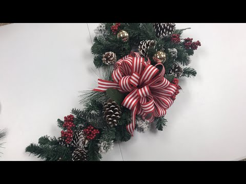 Dollar Tree Candy Cane Wreath Form Tutorial - YouTube