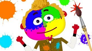 Fun With Paints | Let's Paint Len & Learn Colors | Nursery Rhymes and Baby Songs by Teehee Town