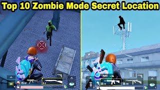 PUBG Mobile Top 10 Secret Location To survive in Zombie Mode || by infinity Gaming