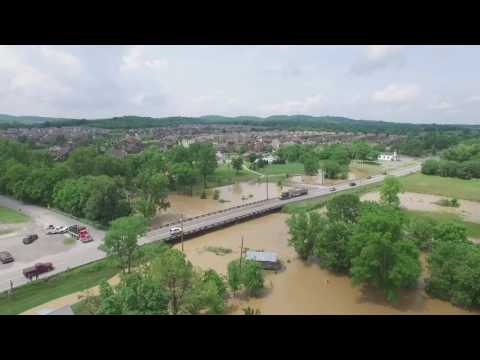 Aerial Sumner County Flooding Footage
