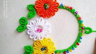 Macrame Sun-flower key Hanger …
