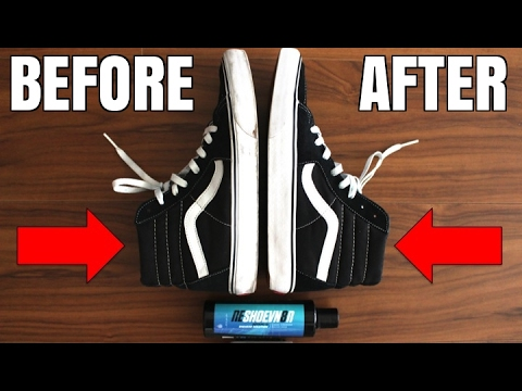 How To: Clean Dirty Vans Sk8 Hi | Make Vans White Again! | Clean White  Sneaker Midsoles DIY Tutorial