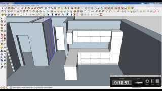 Google Sketchup Tutorial Part 03: Kitchen Modeling (furniture Modeling)