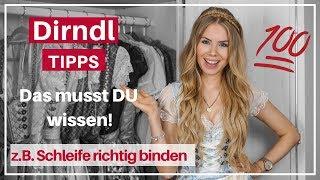#Dirndl #Tipps ❤️ z.B. Schleife binden, Bluse, BH usw. + DIRNDL SAMMLUNG