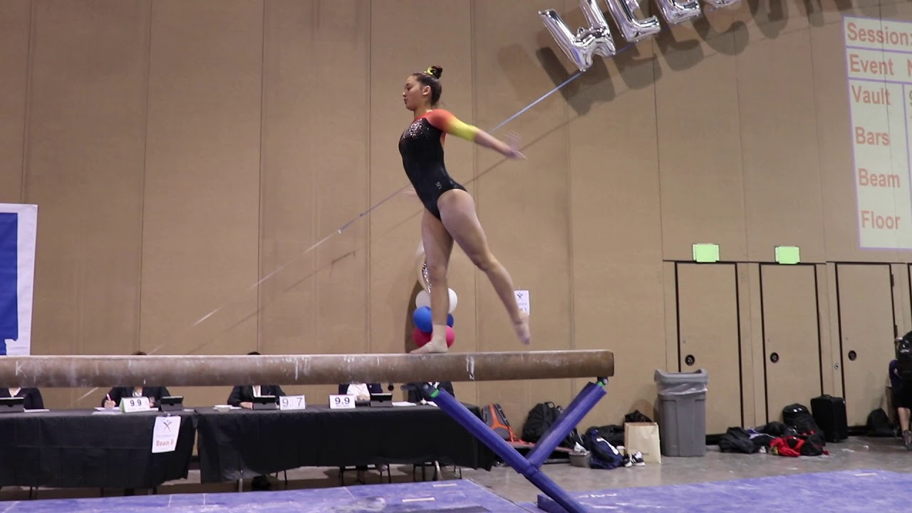 Isabelle Hing 3rd Place Beam Region 1 Championships 2018 Wildfire