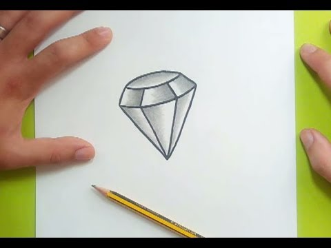 Como dibujar un diamante paso a paso 2 | How to draw a diamond 2 ...