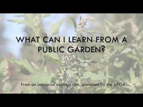 What is a public garden