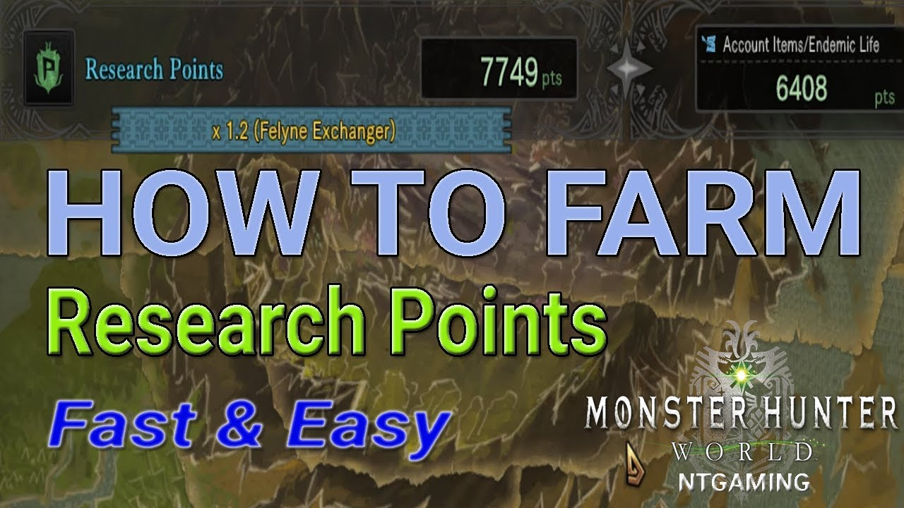 How To Farm Research Points In Mhw Monster Hunter World Pc Youtube