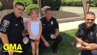 How this 6-year-old philanthropist is helping her local police department get a K-9   GMA Digital