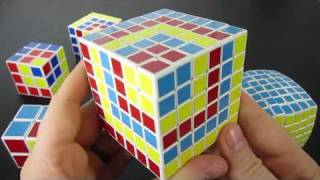 Cube in a Cube Rubik's Cube Pattern 2x2 through 7x7