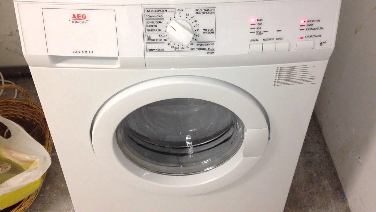aeg lavamat 54630 letzte waschprogramm 5 ende youtube