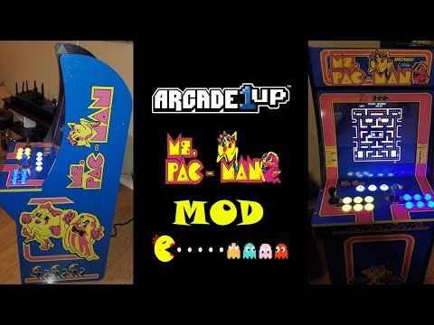 Arcade1up Ms. Pac-Man Mod With Horizontal Monitor!!