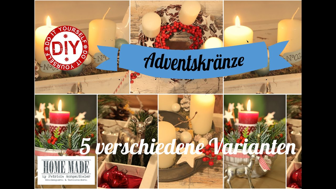 how to i 5 shabby chic adventskr nze i gestecke i deko inspirationen selbstgemacht youtube