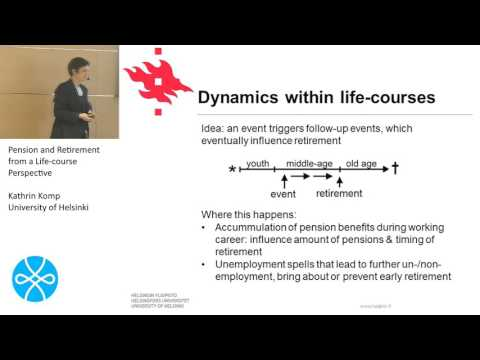Kathrin Komp, Session: Pension and Retirement from a Life-course Perspective
