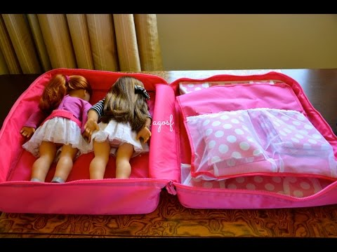 How to Pack For Your American Girl Doll ~ Hotel Overnight Stay!