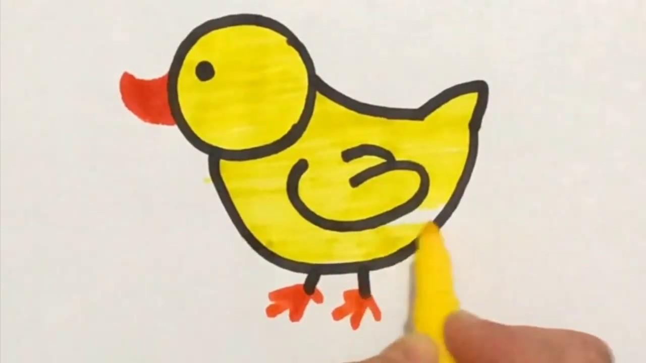 Adim Adim Ordek Cizimi Boyama Ordek Nasil Cizilir Duck Step By