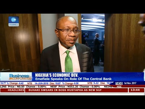 Economic Devt: Emefiele Speaks On Role Of Central Bank |Business Incorporated|