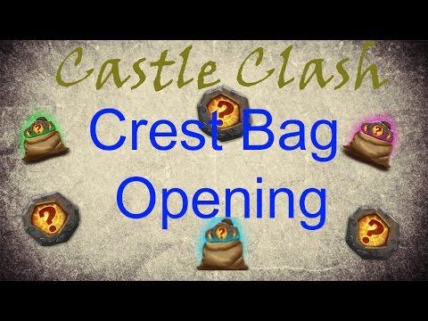 Castle Clash [40+ Crest Bag Opening]