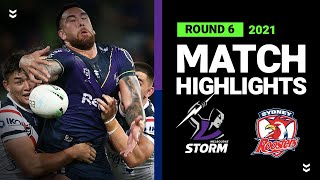 Storm v Roosters Match Highlights   Round 6, 2021   Telstra Premiership   NRL