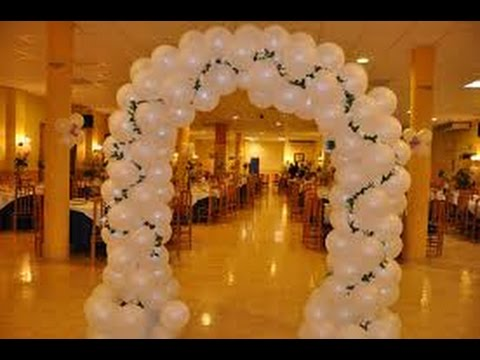 Decoraci n con globos para bodas youtube - Adornos boda civil ...