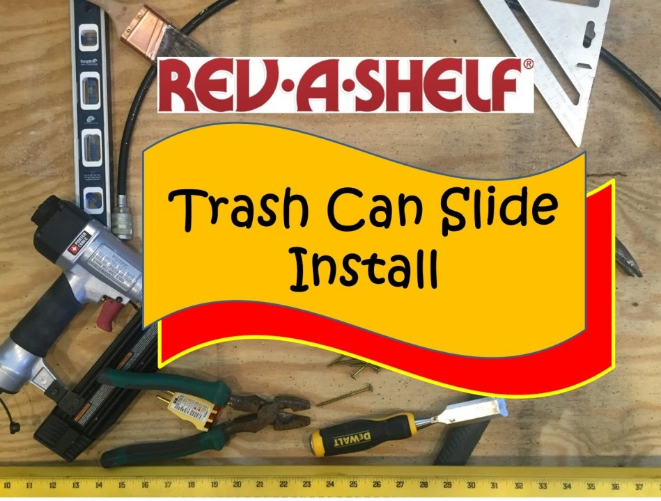 how to install a revashelf trash can slide