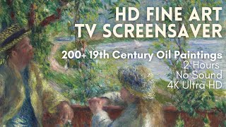 Relaxing HD Fine Art Screensaver for TV - 200+ 19th Century Oil Paintings (2 Hours, No Sound)