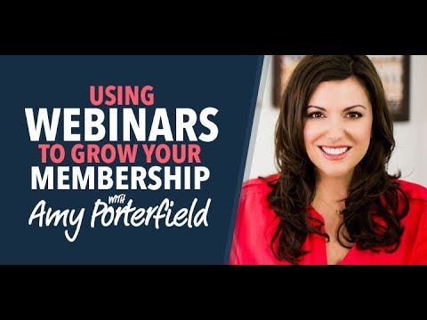 Amy Porterfield on Using Webinars to Promote Your Membership