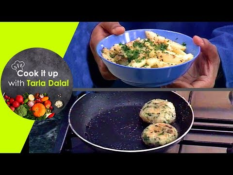Cook It Up With Tarla Dalal - Ep 16 - Tawa Mushrooms, Lifafa Paratha, Hariyali Tikki, Til Wale Aloo